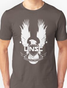 UNSC LOGO HALO 4 - CLEAN LOGO IN WHITE Unisex T-Shirt