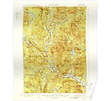 USGS TOPO Map New Hampshire NH Rumney 330332 1932 62500 Poster