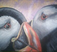 Puffin Love by tripsyprime8