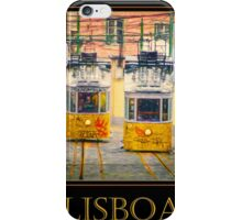 Gloria Funicular Lisboa Poster iPhone Case/Skin