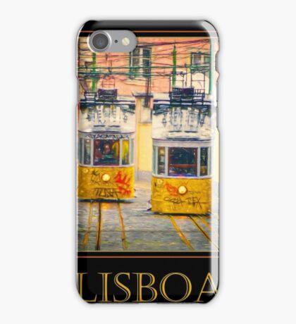 Gloria Funicular Lisboa Poster iPhone Case/Skin