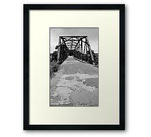 Route 66 - One Lane Bridge Framed Print
