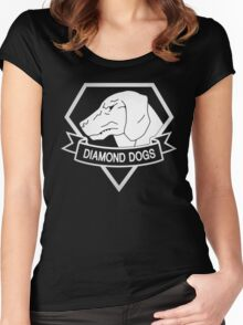 Metal Gear Solid - Diamond Dogs - White Women's Fitted Scoop T-Shirt