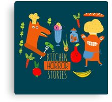 Kitchen Horror Stories Canvas Print