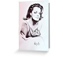 Romy Schneider Greeting Card