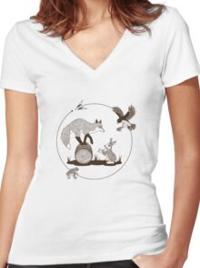 Do a Barrel Roll Women's Fitted V-Neck T-Shirt