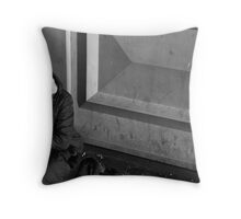 Down and out on Waverley Bridge Throw Pillow