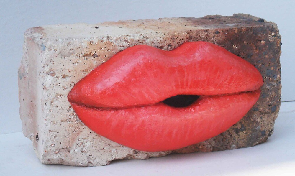 A KISS WITH A BRICK IS BETTER THAN NONE by Louis van den Heever