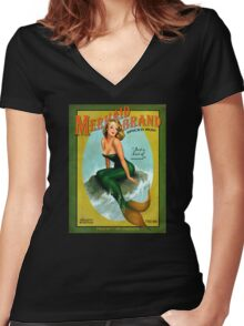 Mermaid of Jamaica Women's Fitted V-Neck T-Shirt