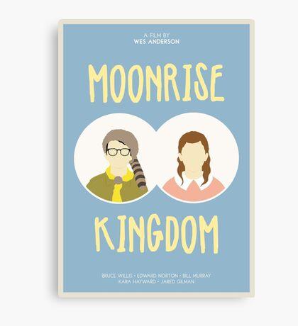 Moonrise Kingdom film poster Canvas Print
