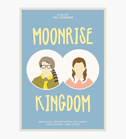 Moonrise Kingdom film poster Photographic Print