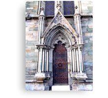 Nidarosdomen Cathedral – A Door Canvas Print