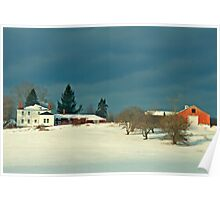 Winter Farm , Berstel Mills Maine Poster