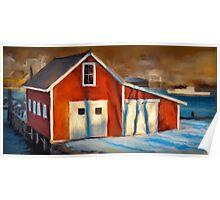 Fishhouse, New Harbor Maine Poster
