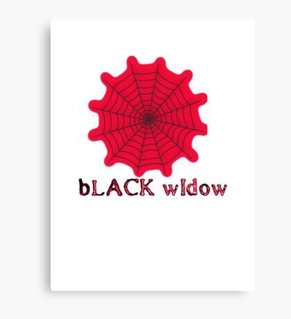 black widow spider web chick tee  Canvas Print