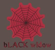 black widow spider web chick tee  by tia knight