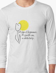 White Tulip (Black) Long Sleeve T-Shirt