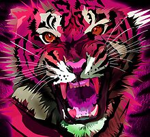Tiger Roar (Pink) by Adamzworld