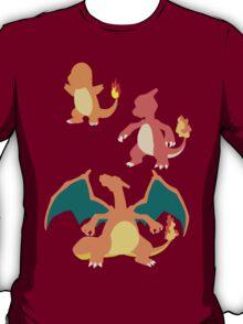 Minimalist Charmander Evolution  T-Shirt