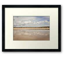 Beach Clouds, Brittany - France Framed Print