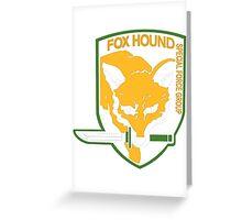 Metal Gear Solid - Fox Hound Greeting Card
