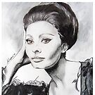 Sophia Loren by Antonio  Luppino