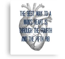 Best way to a man's heart Canvas Print
