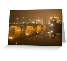 Reflection in Turin - Italy Greeting Card
