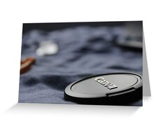 Canon Lens Cap Greeting Card