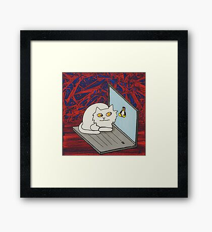 Nice to meet you! Framed Print