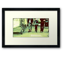 London life Framed Print