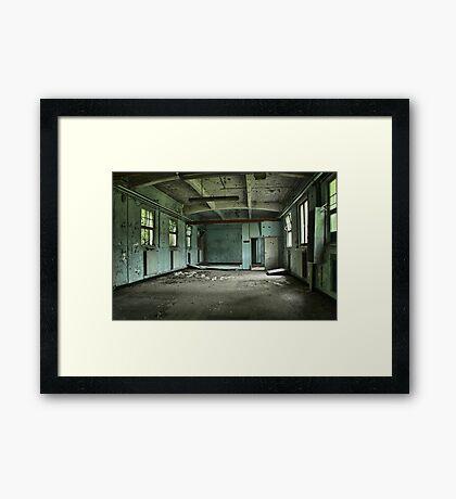 Abandoned base Framed Print