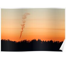 Spiral cloud at sunset Poster