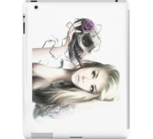 Girl With The Skull iPad Case/Skin