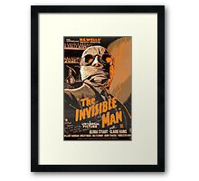 The Invisible Man - Retro Framed Print
