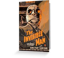 The Invisible Man - Retro Greeting Card