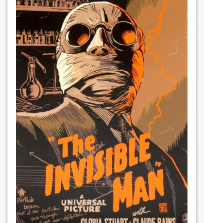 The Invisible Man - Retro Sticker