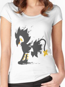 Luxray paint-splatter  Women's Fitted Scoop T-Shirt