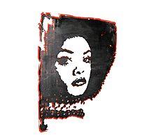 Tamara Dobson Retro Afro Goddess Photographic Print