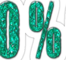 Aqua 100 percent OZ Sticker