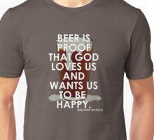Ben Franklin on Beer Unisex T-Shirt