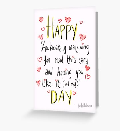 Valentine's day is awkward.  Greeting Card