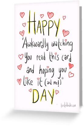 Valentine's day is awkward.  by twisteddoodles