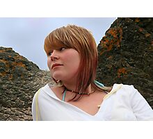 Sitting on the Rocks at Broughty Ferry Photographic Print