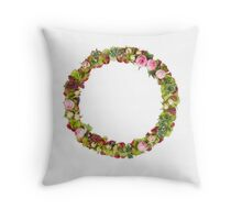 Capital Letter O Part of a set of letters, Numbers and symbols Throw Pillow
