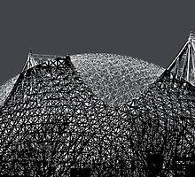 Jacques-Cartier bridge et Biosphere by Francine Lapointe