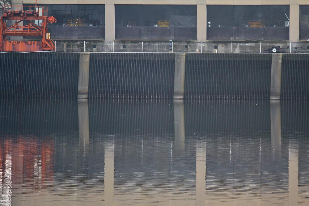 Dam Reflections by Lynn Wiles