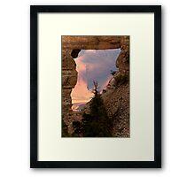Angel's Window Framed Print