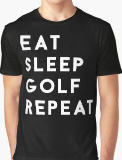 Eat Sleep Golf Repeat Graphic T-Shirt