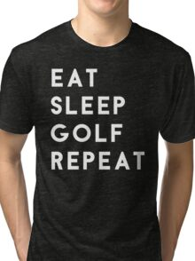 Eat Sleep Golf Repeat Tri-blend T-Shirt